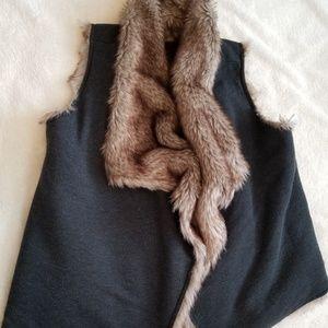 Mossimo Faux Reversible Faux-fur vest